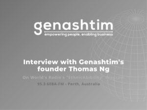 "AUSTRALIA'S RADIO 6EBA FM 95.3 ""ETHNICABILITY"" PROGRAM INTERVIEW APR 2012"