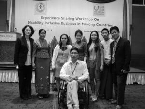 EXPERIENCE SHARING WORKSHOP ON DISABILITY INCLUSIVE BUSINESS IN MEKONG COUNTRIES MARCH 2014 – YANGON, MYANMAR